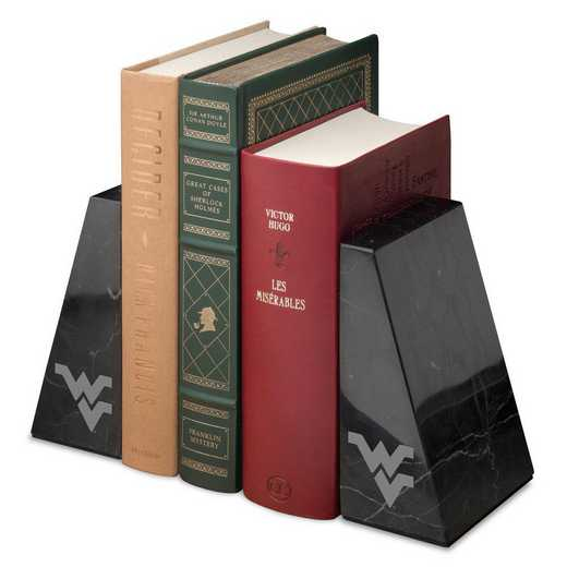 615789180685: West Virginia Univ Marble Bookends