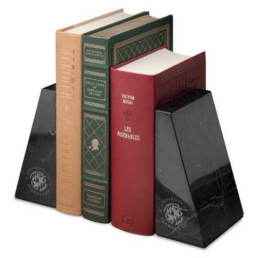 615789458425: Univ of Maryland Marble Bookends