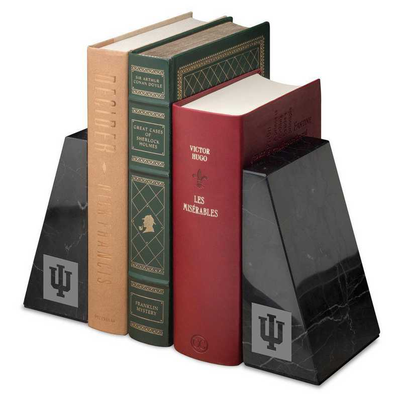 615789516934: Indiana Univ Marble Bookends