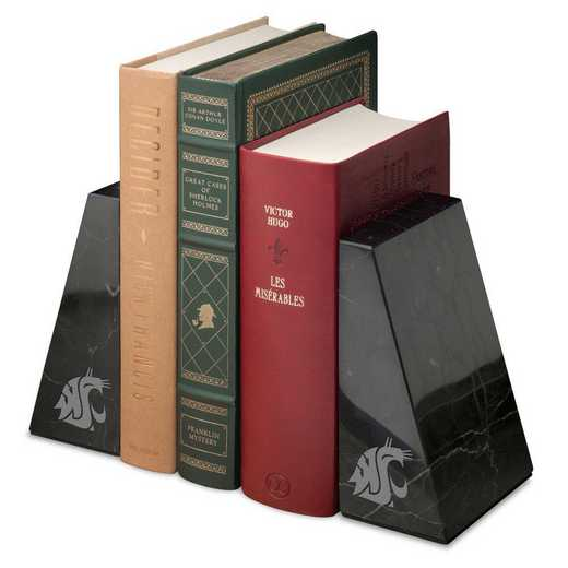 615789566151: Washington State Univ Marble Bookends