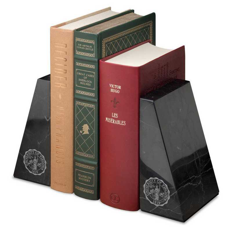 615789746102: Univ of Virginia Marble Bookends