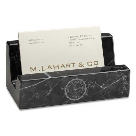 615789108054: Central Michigan Marble Business Card Holder