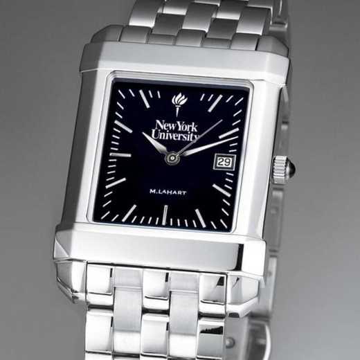 615789064268: NYU Men's Black Quad Watch with Bracelet