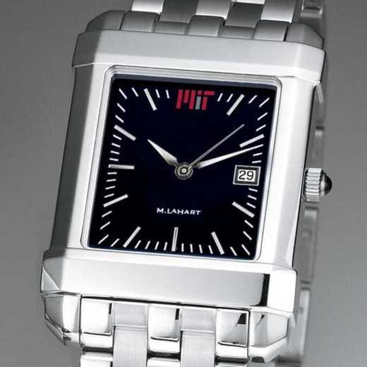 615789156628: MIT Men's Black Quad Watch with Bracelet