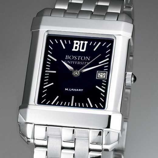 615789413158: Boston Univ Men's Black Quad with Bracelet