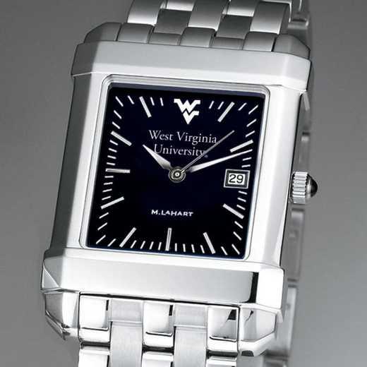 615789501244: West Virginia Univ Men's Black Quad with Bracelet