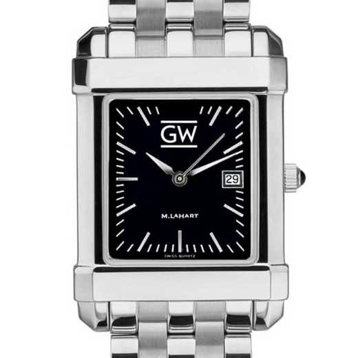 615789536505: George Washington Men's Black Quad with Bracelet