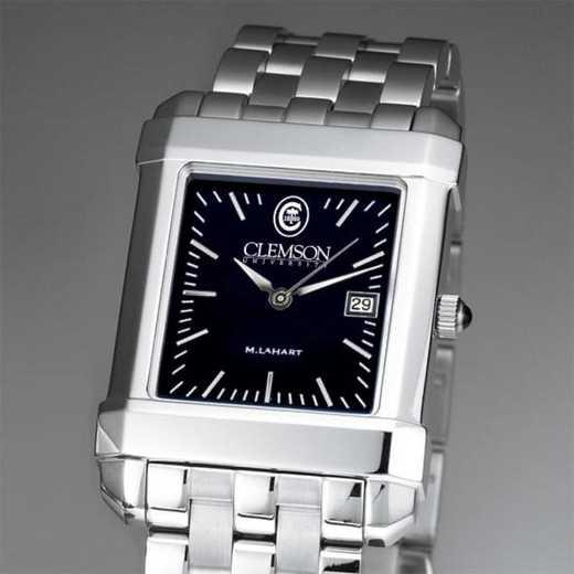 615789583288: Clemson Men's Black Quad Watch with Bracelet