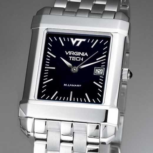 615789583820: Virginia Tech Men's Black Quad Watch with Bracelet