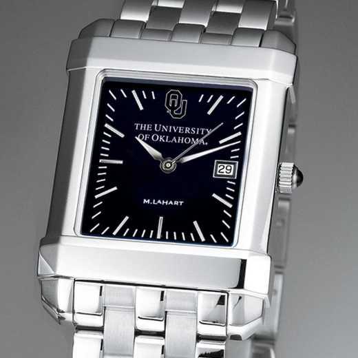615789886495: Oklahoma Men's Black Quad Watch with Bracelet