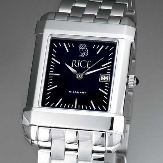 615789904489: Rice Univ Men's Black Quad with Bracelet