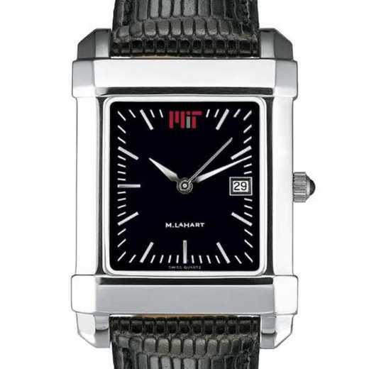 615789260783: MIT Men's Black Quad Watch with Leather Strap
