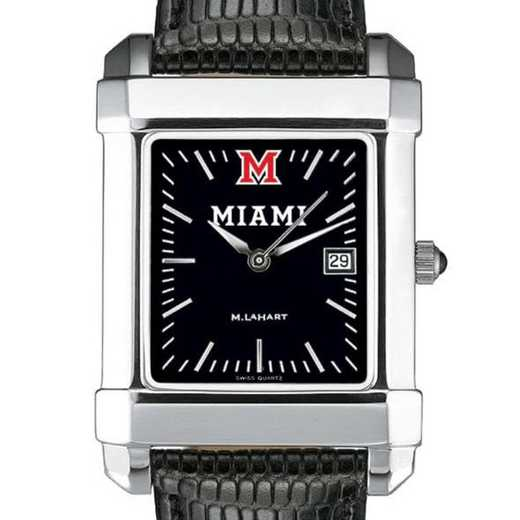 615789299868: Miami Univ Men's Black Quad with Leather