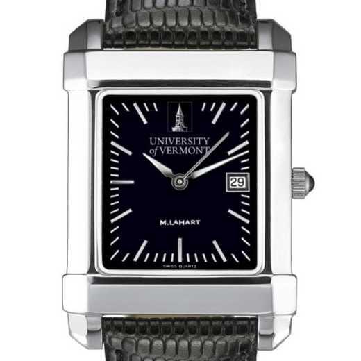 615789575122: UVM Men's Black Steel Quad Watch with Bracelet