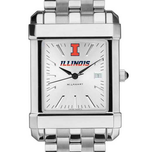 615789407805: Univ of Illinois Men's Collegiate Watch w/ Bracelet