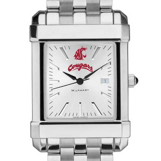 615789562108: Washington State Univ Men's Collegiate Watch w/ Bracelet