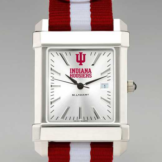 615789790648: Indiana Univ Collegiate Watch with NATO Strap for Men