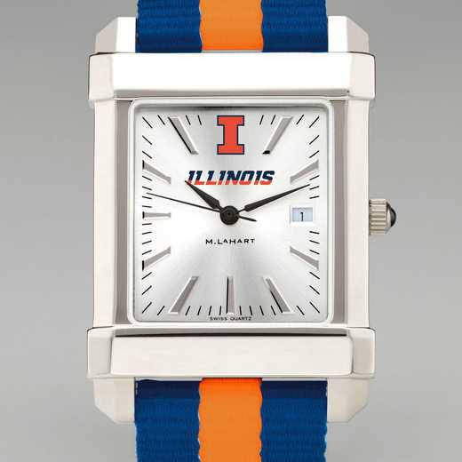 615789810544: Univ of Illinois Collegiate Watch with NATO Strap for Men