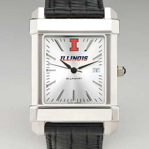 615789240068: Univ of Illinois Men's Collegiate Watch with Leather Strap