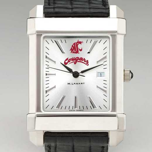 615789305217: Washington State Univ Men's Collegiate Watch w/LthrStp