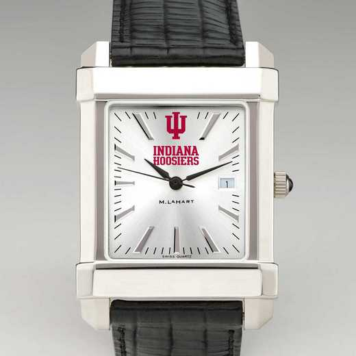 615789385264: Indiana Univ Men's Collegiate Watch with Leather Strap