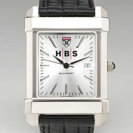 615789402053: HBS Men's Collegiate Watch with Leather Strap