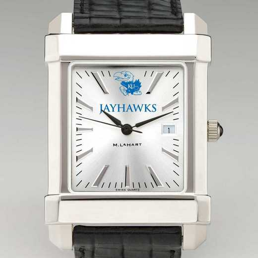 615789599982: Univ of Kansas Men's Collegiate Watch with Leather Strap