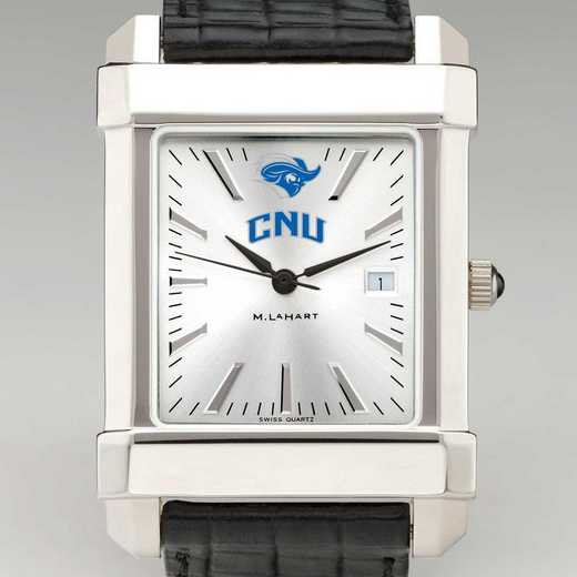 615789749653: Christopher Newport Univ Men's Collegiate Watch w/LthrStp