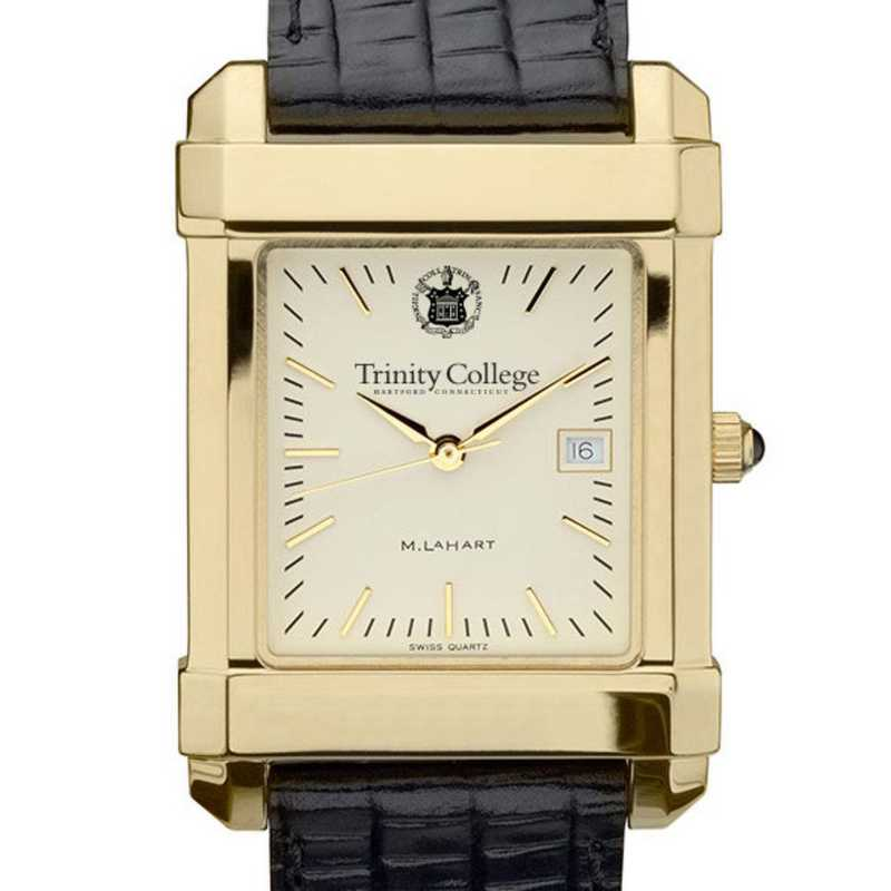 615789030799: Trinity College Men's Gold Quad w/ Leather Strap