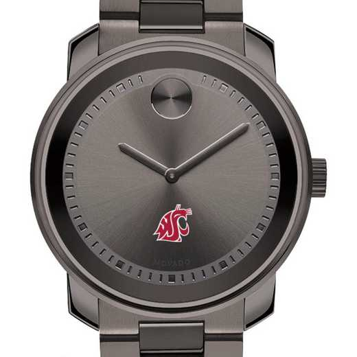 615789030652: Washington State Univ Men's Movado BOLD Gunmetal Grey