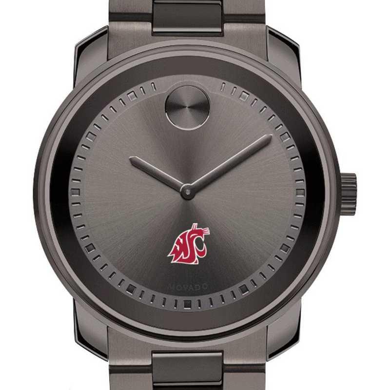 615789030652: Washington State Univ Men's Movado BOLD Gunmetal Grey