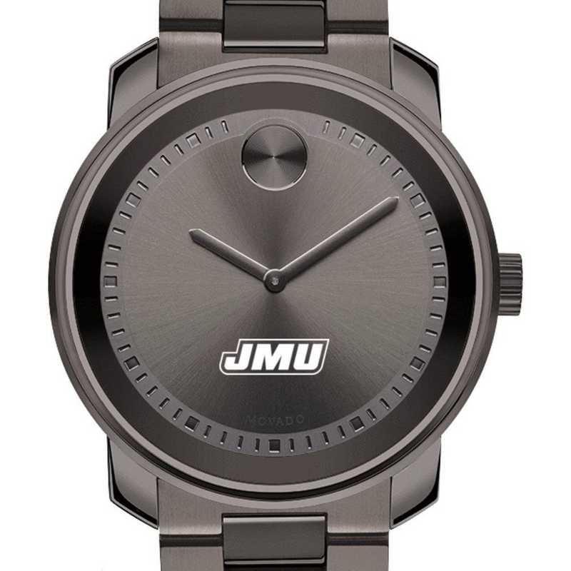 615789034070: James Madison Univ Men's Movado BOLD gnmtl gry