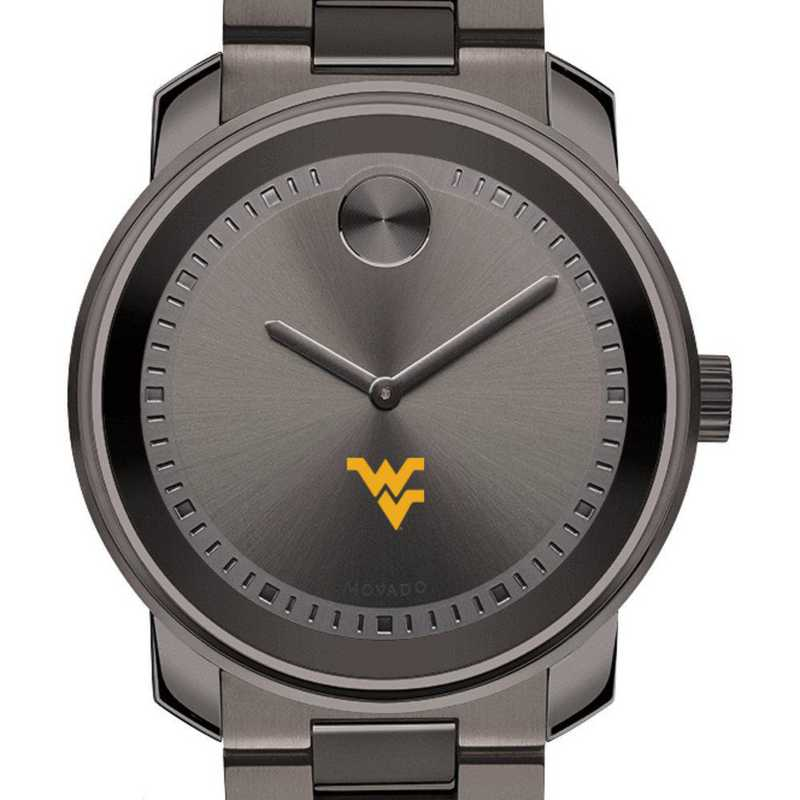 615789079576: West Virginia Univ Men's Movado BOLD gnmtl gry