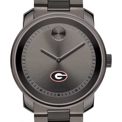 615789191902: Univ of Georgia Men's Movado BOLD gnmtl gry