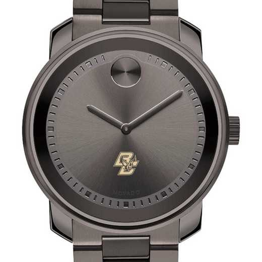 615789218296: Boston College Men's Movado BOLD gnmtl gry