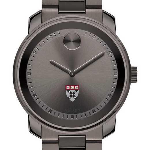 615789238805: Harvard Business School Men's Movado BOLD Gunmetal Grey