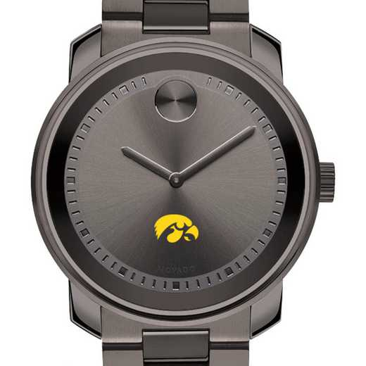 615789322931: Univ of Iowa Men's Movado BOLD Gunmetal Grey