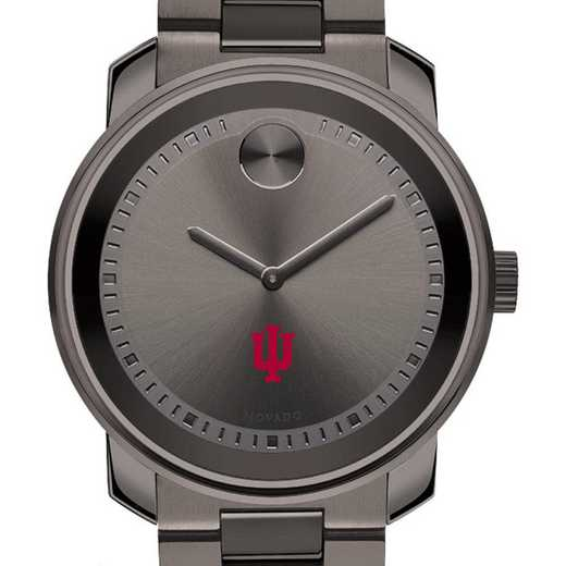 615789436768: Indiana Univ Men's Movado BOLD Gunmetal Grey