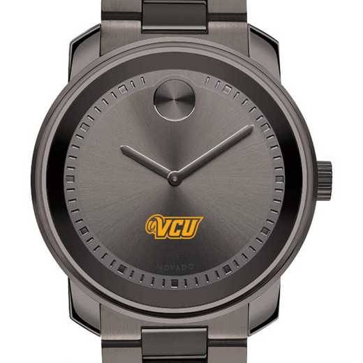 615789481645: Virginia Commonwealth Univ Men's Movado BOLD gnmtl gry