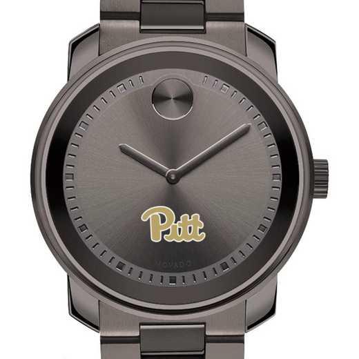 615789490890: Pitt Men's Movado BOLD gnmtl gry