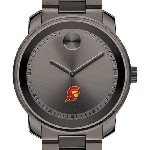 615789494942: Univ of Southern California Men's Movado BOLD Gunmetal Grey