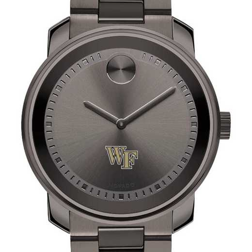 615789529606: Wake Forest Univ Men's Movado BOLD gnmtl gry