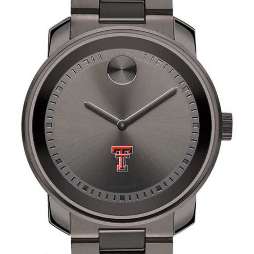 615789578406: Texas Tech Men's Movado BOLD gnmtl gry