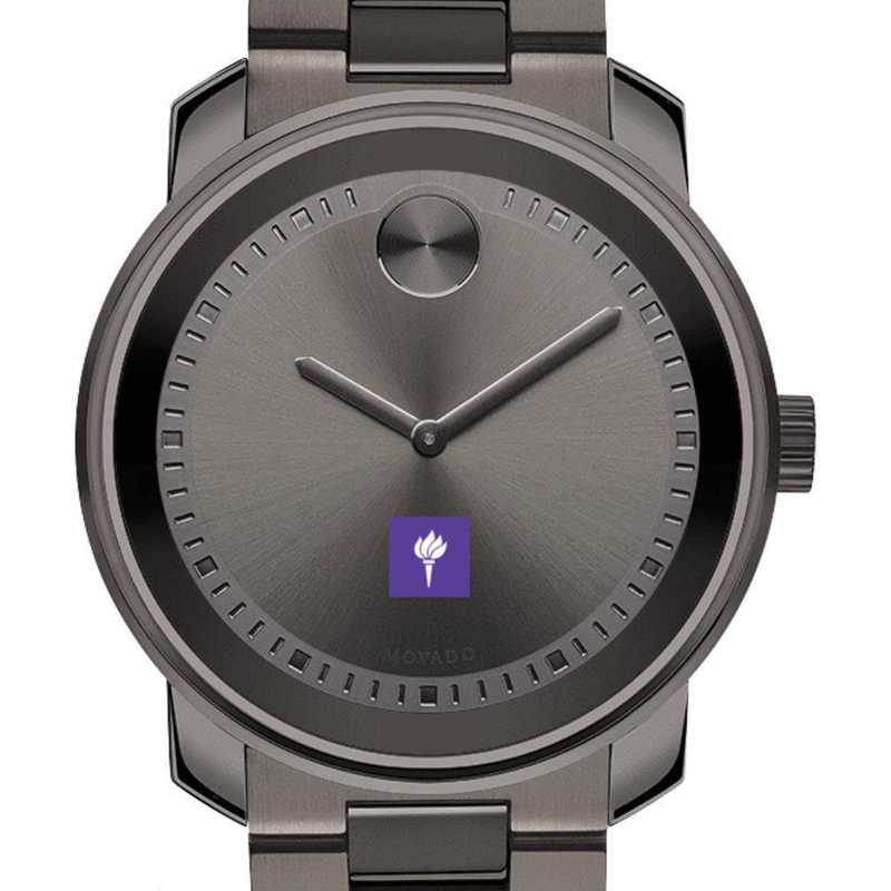 615789620945: New York Univ Men's Movado BOLD gnmtl gry