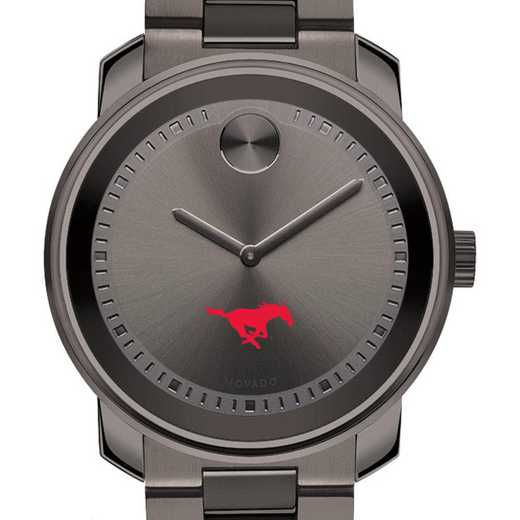615789622895: Southern Methodist Univ Men's Movado BOLD gnmtl gry