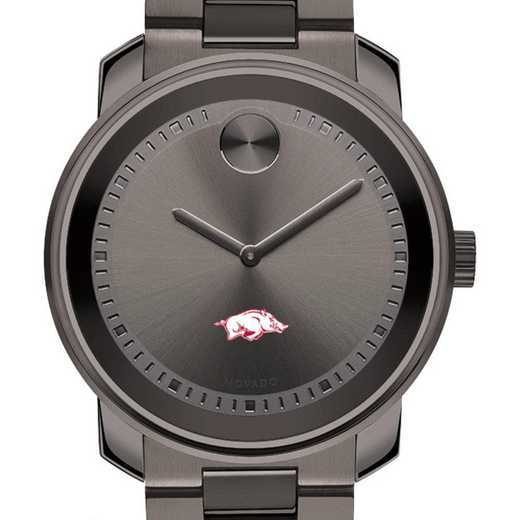 615789653318: Univ of Arkansas Men's Movado BOLD gnmtl gry