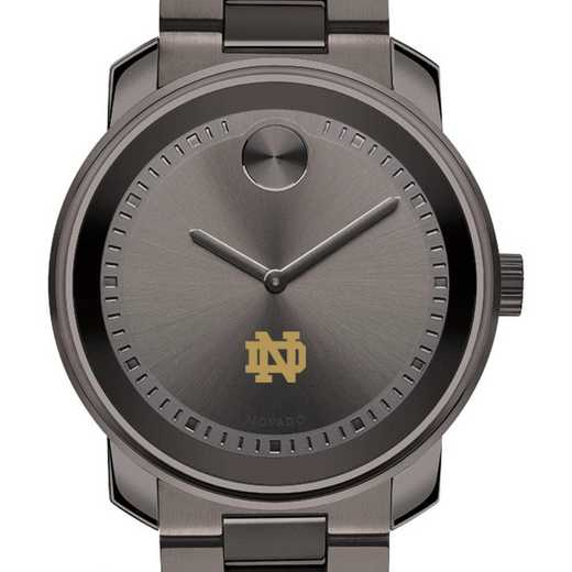 615789674498: Univ of Notre Dame Men's Movado BOLD gnmtl gry