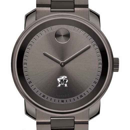 615789716747: Univ of Maryland Men's Movado BOLD gnmtl gry