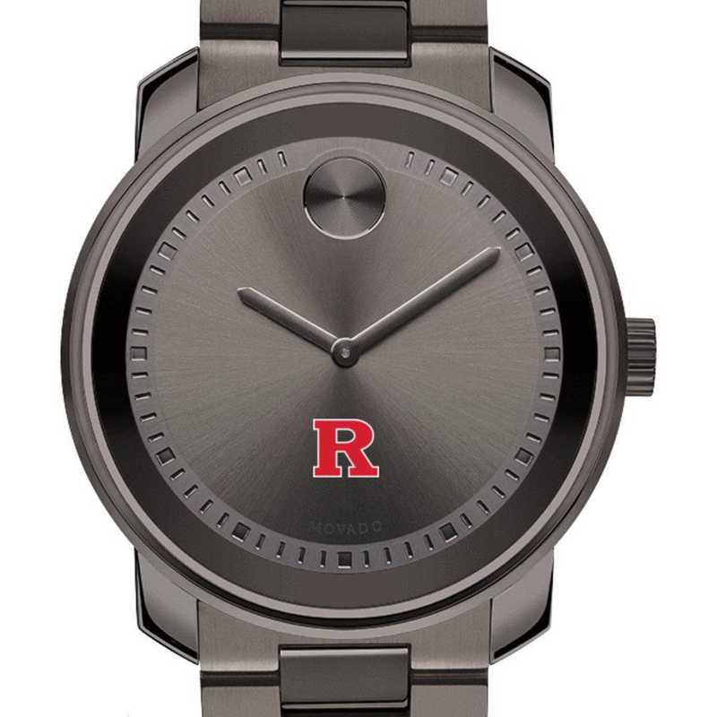 615789808398: Rutgers Univ Men's Movado BOLD Gunmetal Grey