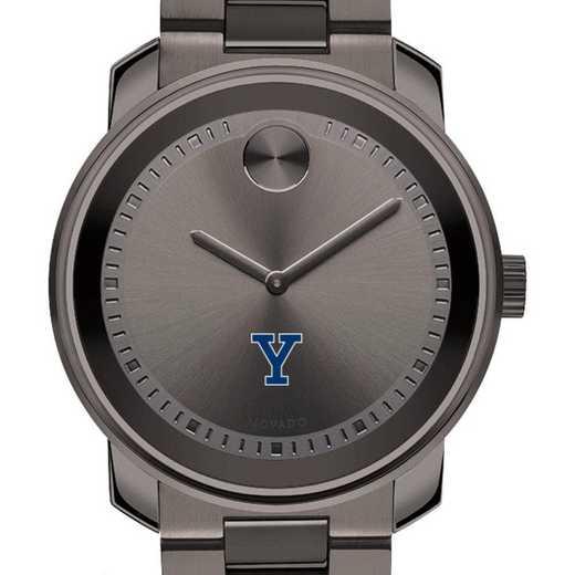 615789821069: Yale Univ Men's Movado BOLD gnmtl gry